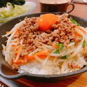 たっぷり野菜の焼肉ビビンバ♡朝カラ健康!