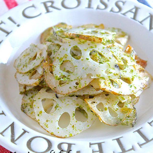 【お弁当用作り置きレシピ】シャキシャキ♡白の常備菜『レンコンのノリ塩炒め』《簡単*節約》