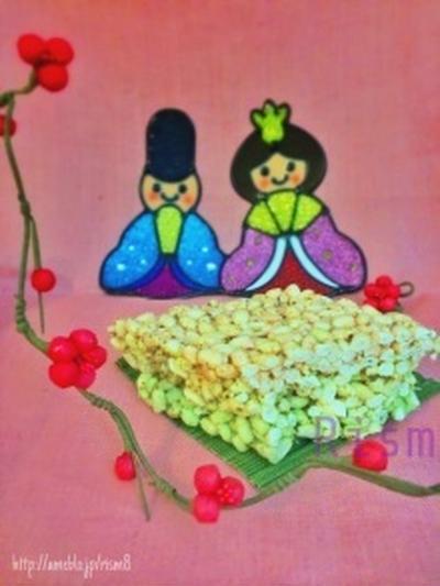 雛祭り✨主材料たったの3つでひし餅風お菓子