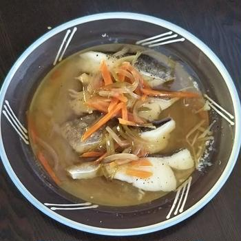 タラのレンチン酒蒸しの野菜あんかけと生姜の冷凍 《 #レンジ調理 #魚料理 #半調理冷凍 #あんかけ #ヘルシー #糖尿病食 》