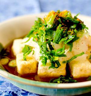 オーブントースターで揚げ出し豆腐 (グルテンフリー)