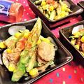 【レシピ】簡単★楽ちん★ちょこっとおかず【アスパラとホタテのタレ漬ソテー】 by ☆s4☆さん