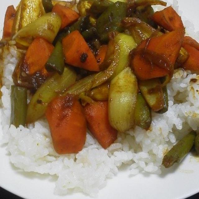 干し野菜のドライカレー
