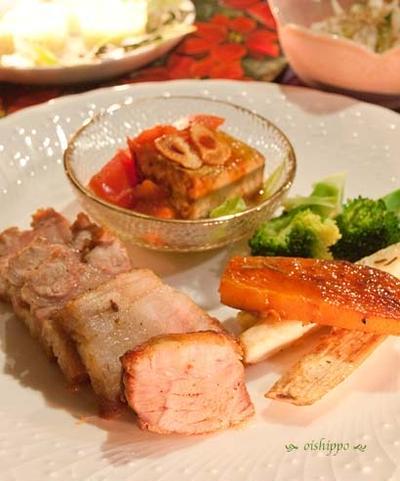 フライパンで豚と山芋のハーブ焼き