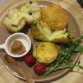 ズッキーニとクリームチーズのライスコロッケ♪〜チーズ入り〜