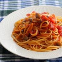 トマトとシメジの簡単パスタ