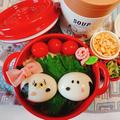 麺弁当〖茹で玉スヌーピー&冷やしたぬきうどん弁当〗