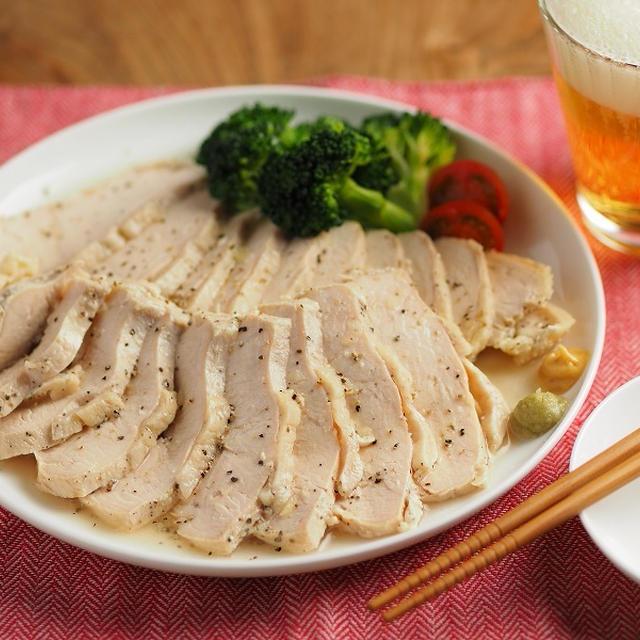 鶏むね肉1キロ!フライパンで作り置きサラダチキン、作り方動画