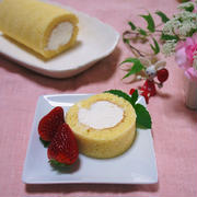 シンプルなロールケーキ