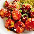 豚こまボールの黒酢あんかけ/甘酢(動画レシピ)/Meat roll ball with black vinegar.