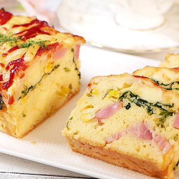 ホットケーキミックスで作るベーコンチーズのパウンドケーキ【ケークサレ】