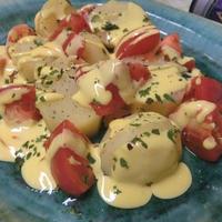 すべてレンチン☆ サフランチーズソースで♪ 蒸し野菜サラダ
