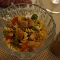 ナッツと鶏のカリカリ彩りカドカドサラダ☆レシピ