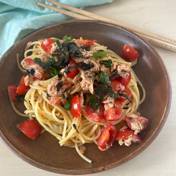 【レシピ】8分完成!ツナトマ和風パスタ とダイエット食の考え方