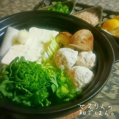 寒い日は…塩麹入り湯豆腐 ◡̈*✧