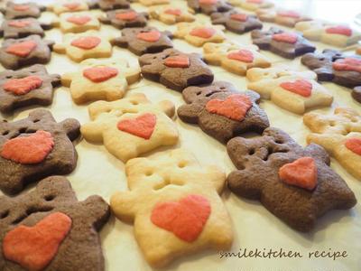 基本の型抜きクッキー クマさん。