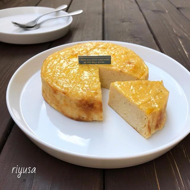 【材料3つで作れるおやつ】柔らかベイクドチーズケーキ