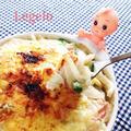 簡単&すぐにできちゃう☆モチモチうどんグラタン♪優しいママの味 by Legeloさん