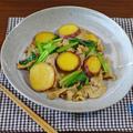 アンチエイジングなさつまいもと小松菜の豚肉 昆布醤油炒め by KOICHIさん