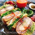 【レシピ動画】アボカドチーズパンの味噌カツハムぱくサンド by Misuzuさん