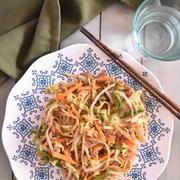 レンジで簡単!ツナとたっぷり野菜の焼きそば♡