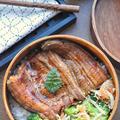 【丼弁当】♡うな丼&ブロッコリーともやしの激旨ナムル♡レシピあり♡
