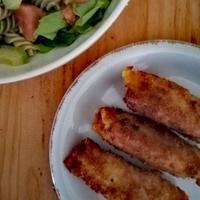 ピキージョのハム&チーズロール揚げ