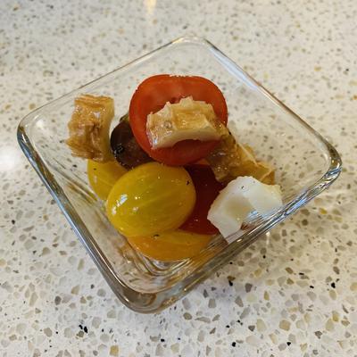 ミニトマトとちくわのフレンチサラダ