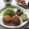 肉じゃがコロッケ定食 ~コロッケサンド & 自家製かぼすポン酢 by カシュカシュさん