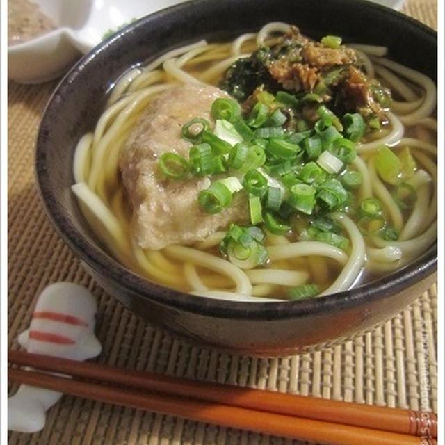 温かいUDON☆食感がすごいトロロを迎えての晩ごはん。自然薯並みの山芋をもらう。