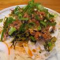 【旨魚料理】冷やし胡麻高菜サバ素麺