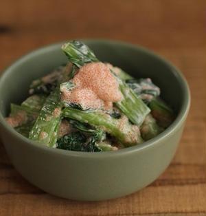 簡単・副菜♪小松菜の明太マヨ和え