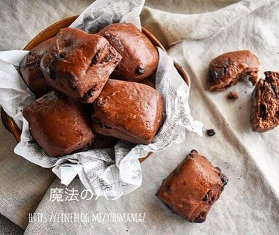 【魔法のパン】切りっぱなしのチョコチップパン*30分*捏ねない*