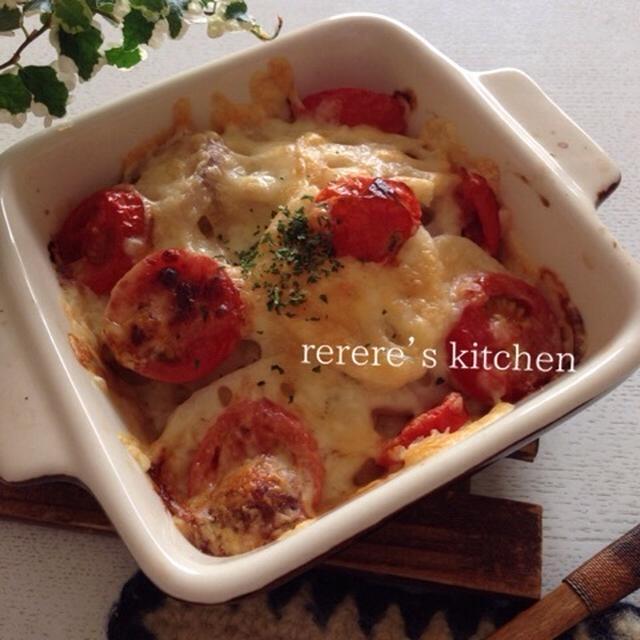 レシピブログmagazineVol.8/れんこんとトマトのチーズ焼き