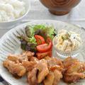 鶏肉たっぷりプチ贅沢♡「チキンステーキ」献立