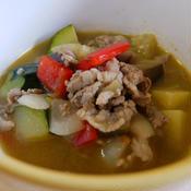 ガラムマサラと残り物いろいろで作る具沢山スープ