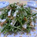 ドレッシングなしで大人の美味しさ♪ ザーサイ梅入り豆苗と厚揚げのサラダ