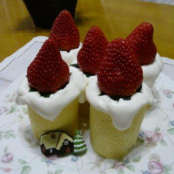 キャンドル型~クリスマスケーキ♪