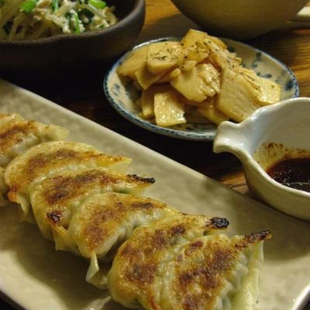 ゴーヤー餃子 ☆ 筍のバター醤油♪