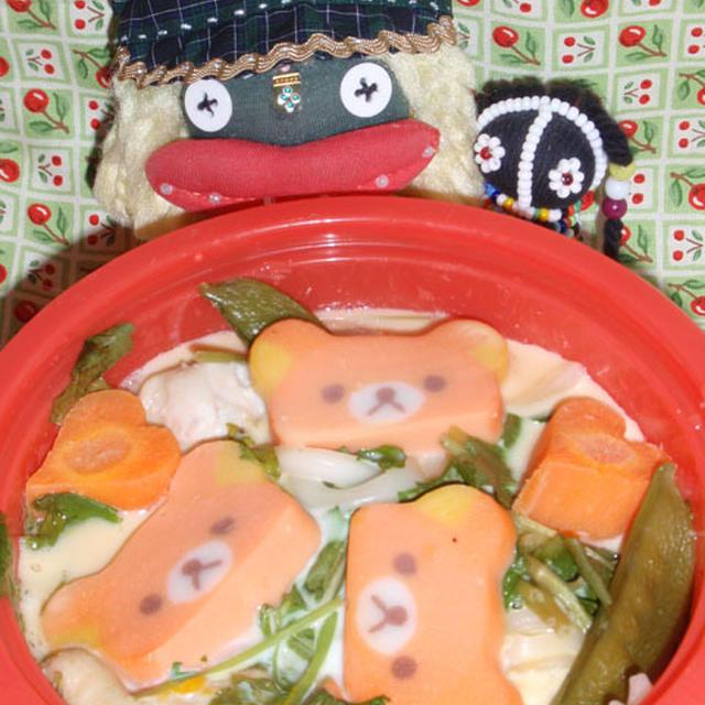 おうどん茶碗蒸し&チーズポテサラ(お家カフェ)