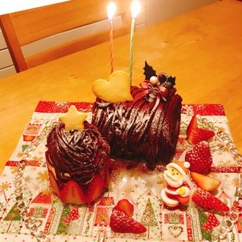 今年のケーキは