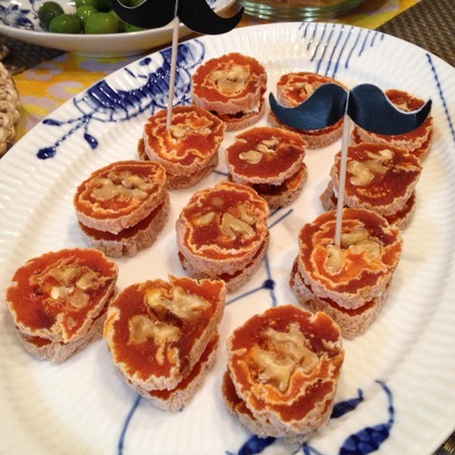 韓国宮廷料理からのアレンジ 〜 柿巻き「コッカムサム」× クリームチーズでオードブル。