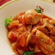 ハーブ香る鶏肉のトマト煮み