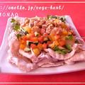 野菜たっぷり巻いて食べる♪♪豚しゃぶサラダ by MOMONAOさん
