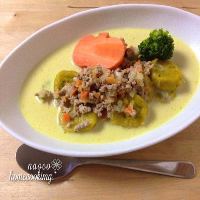 野菜たっぷり*優しい味の~南瓜ニョッキのカレースープ ♪♪