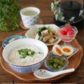 炊飯器で中華粥の昼ごはん