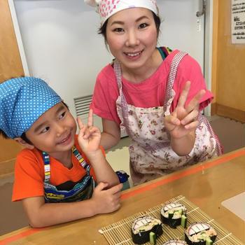 ハロウィンの飾り巻き寿司教室