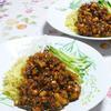 かさまし肉味噌のジャージャー麺