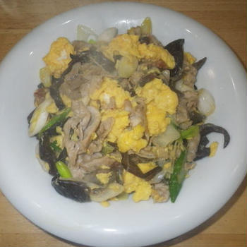 卵と豚肉のしょうゆ炒め・料理レシピ