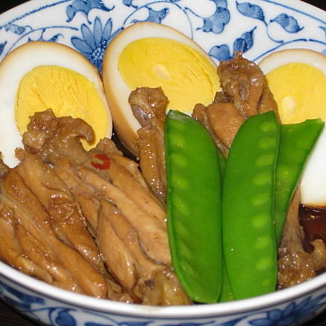 鶏手羽と茹で玉子のさっぱり煮